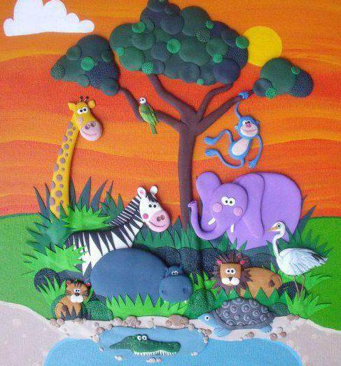 plasticine painting set