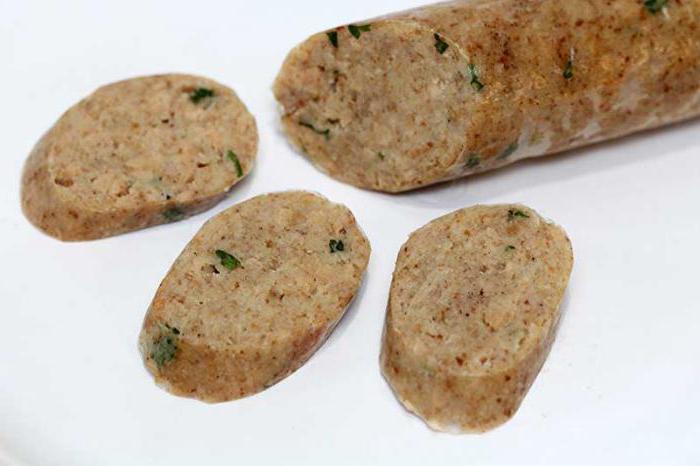 вегетарианская колбаса рецепт