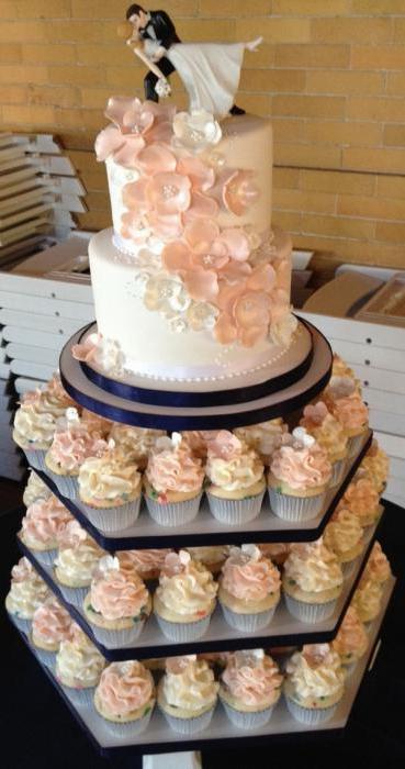 Свадебный торт с капкейками - вкусно и красиво