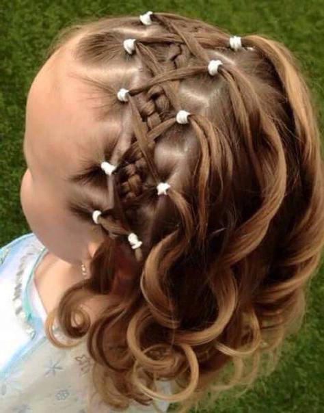 hairstyles graduation in kindergarten long curls