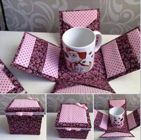 1918577 Как сделать коробочку для подарка своими руками из картона. Пошагово Фото
