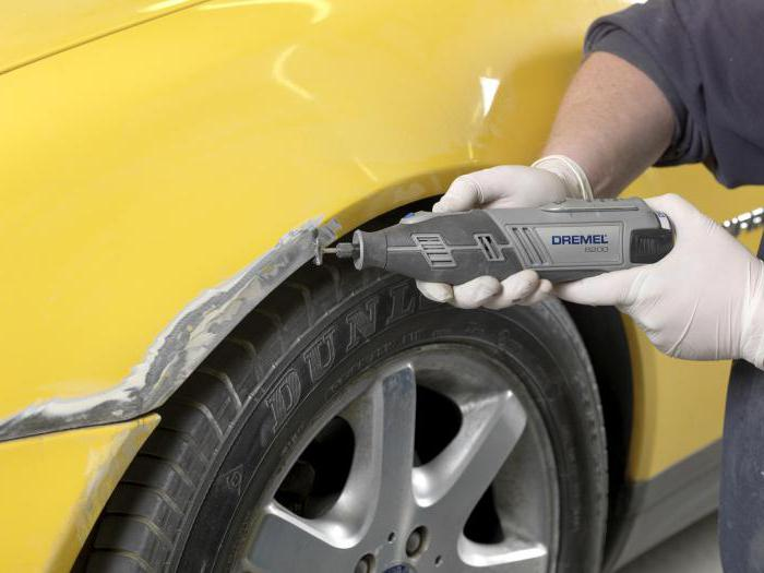 removal of phosphorus acid rust from the car body