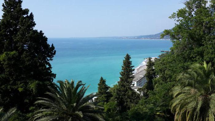 Abkhazia rest private sector on the shore