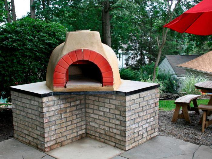 outdoor stove with barbecue