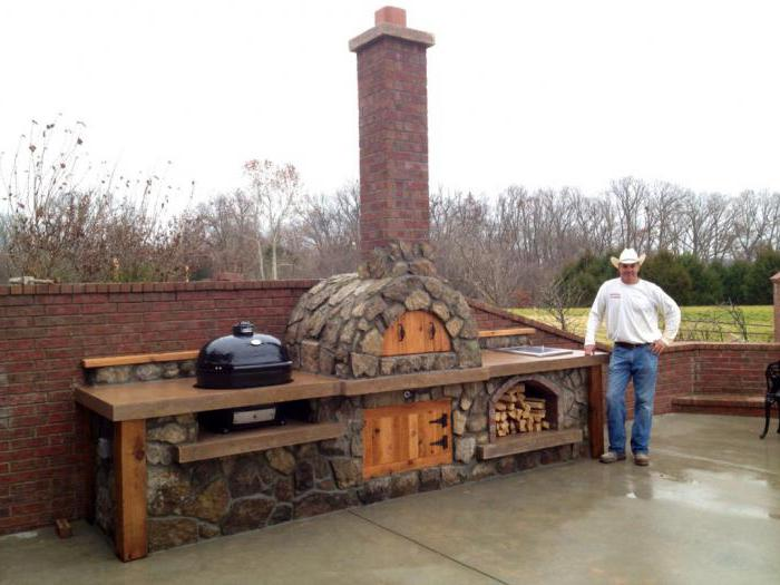 outdoor stove with his own hands