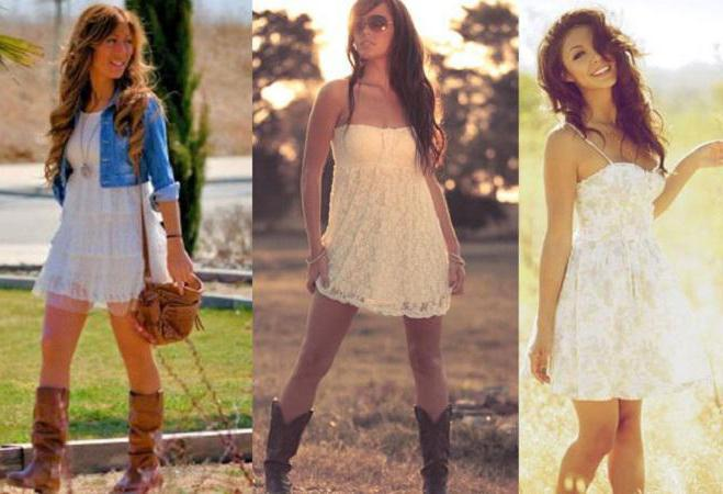 Romantic style in clothes