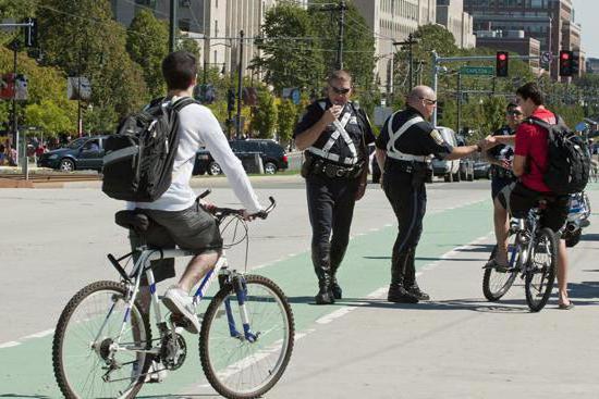 штрафы за нарушение правил дорожного движения водителями велосипедов