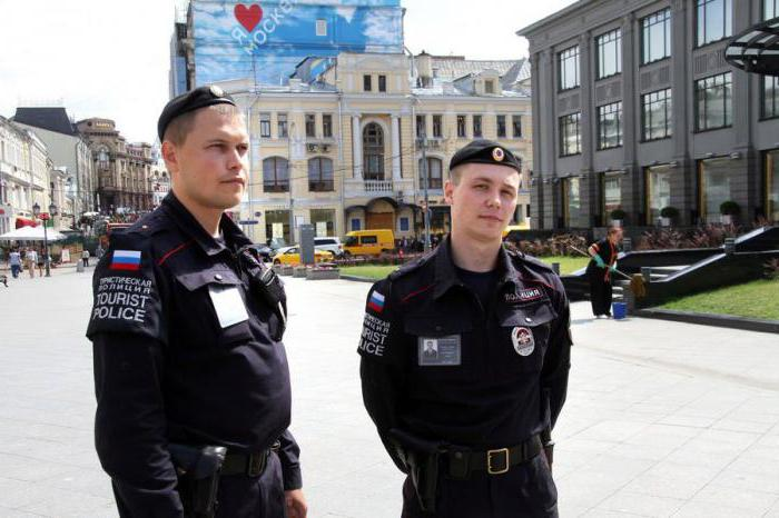 Functions of the tourist police