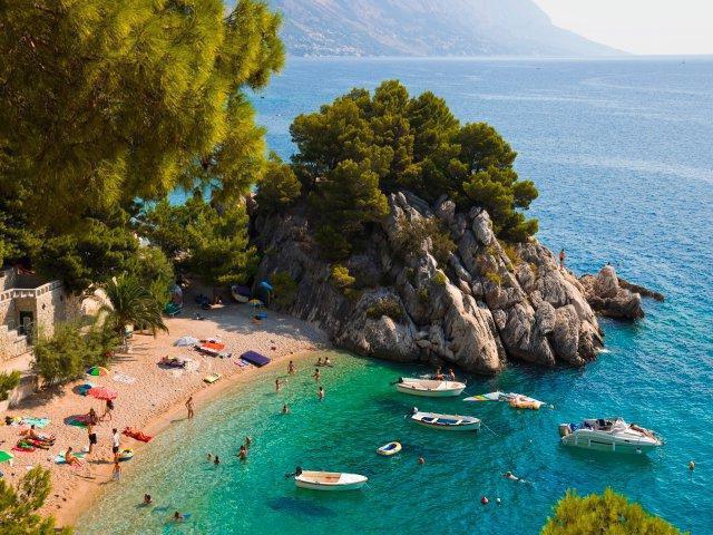 Beach Brela Croatia