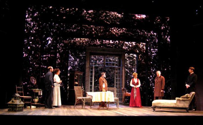 image of a garden in a play cherry orchard composition