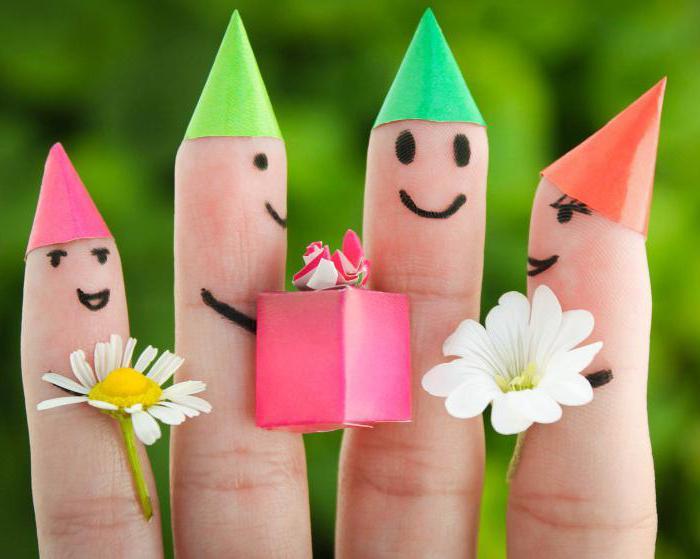 коллективе картинки человечки на пальцах рук отличить