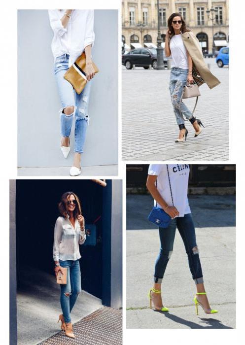 Модные советы: что носить с рваными джинсами?