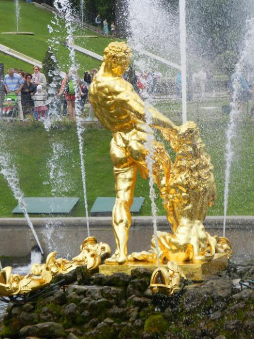 history of fountains of Peterhof