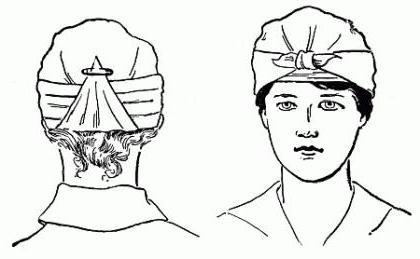 headband dressing technique