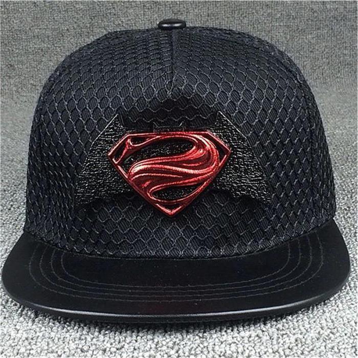 Black baseball cap with straight visor