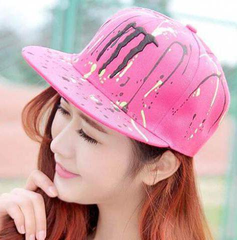 Baseball caps for girls with a straight peak