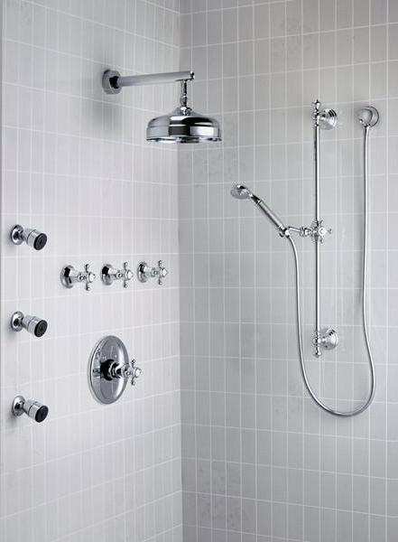 bath mixer with thermostat shower photo