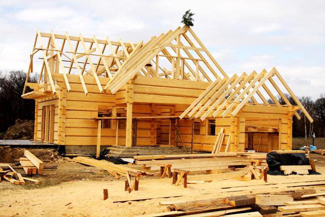 construction of houses from a calibrated timber
