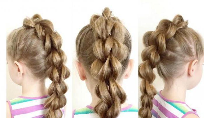 Косы с резинками на длинные волосы