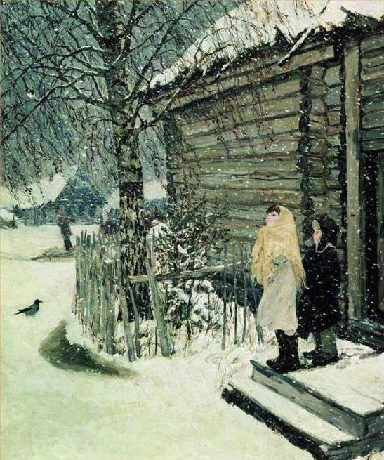 an essay on the subject of the picture of the first snow