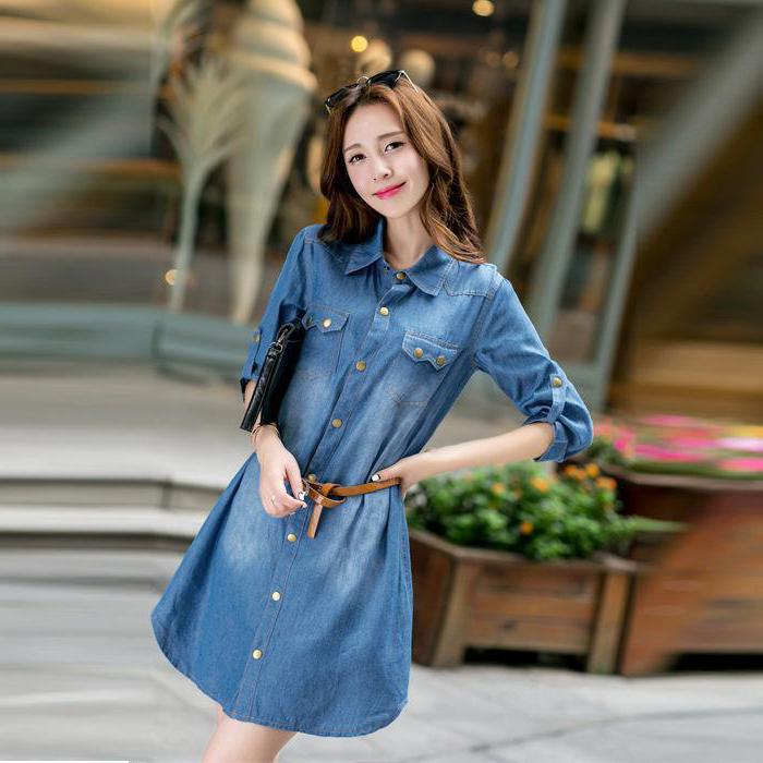 denim dress with what to wear