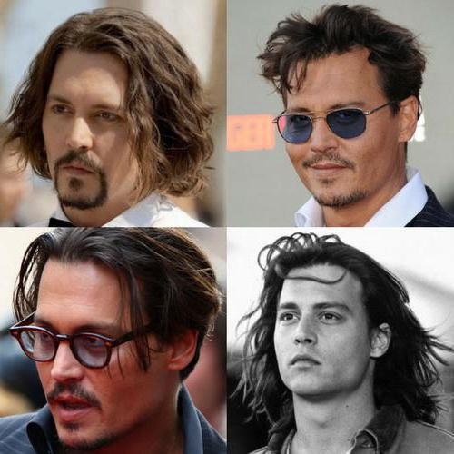 what is the name hairstyle johnny depp