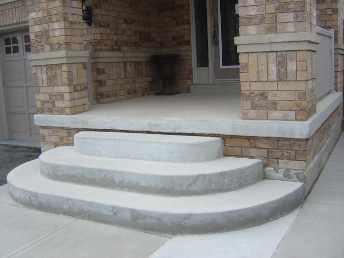 Как сделать полукруглое крыльцо из бетона