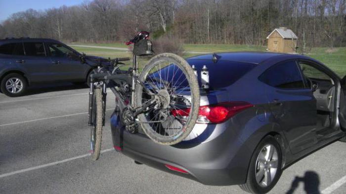 крепление на багажник для перевозки велосипеда