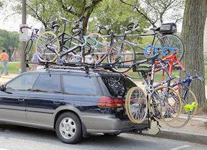 багажник для перевозки велосипеда на крыше