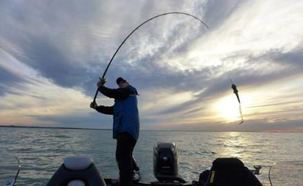 Fishing on the southern dam of the Gulf of Finland