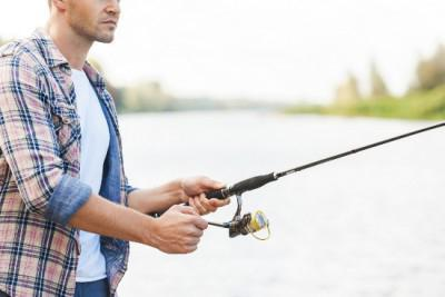 Fishing on the dam of the Gulf of Finland