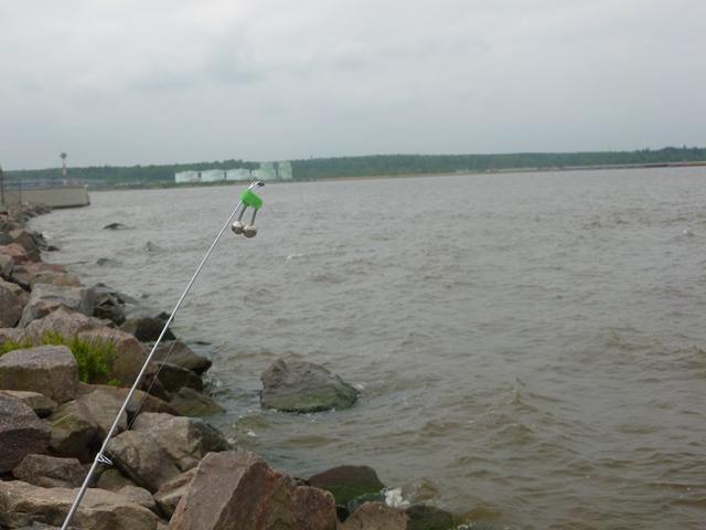 Рыбалка на дамбе финского заила места