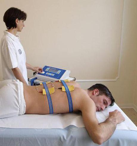 Аппарат для лечения позвоночника током