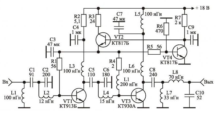 calculation of a transistor amplifier