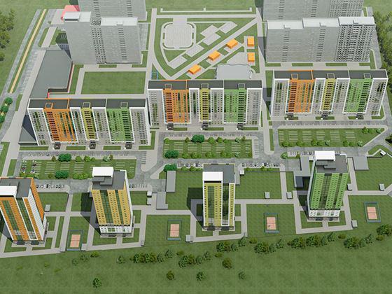 Apartments in Ankudinovsky park Nizhny Novgorod