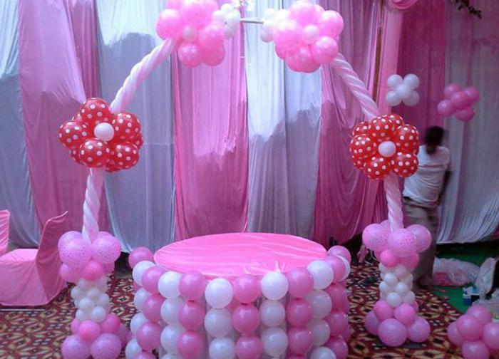 оформление детского стола на день рождения девочке