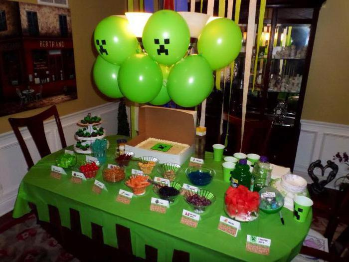 детское оформление стола на день рождения