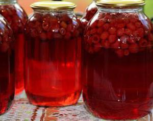 raspberry compote for the winter