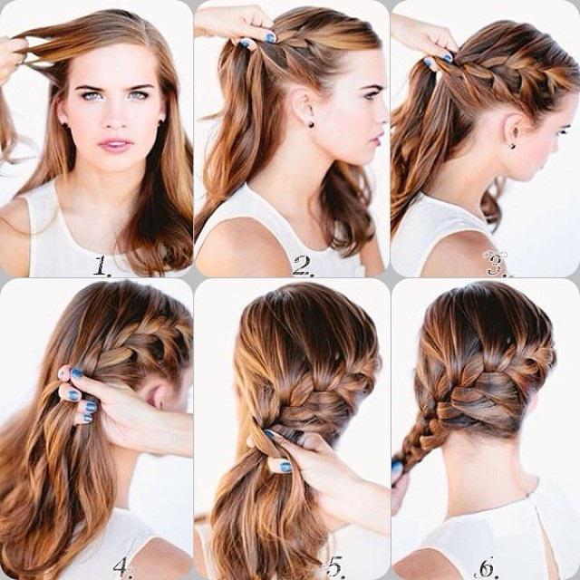 Простые прически на вечер на средние волосы :: SYL.ru