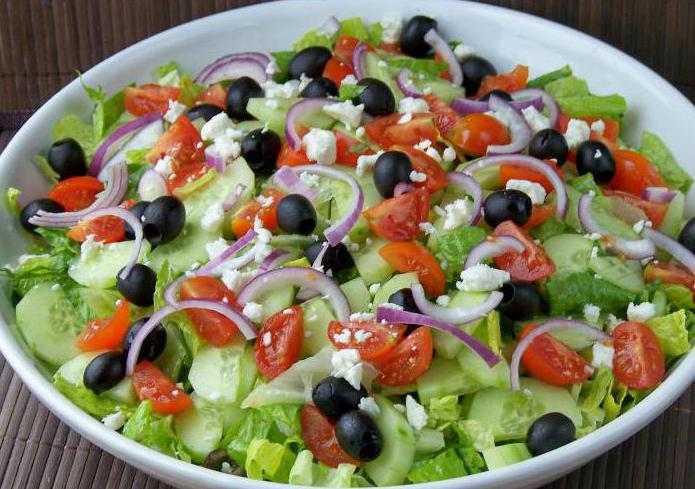 Быстрый салат без майонеза на скорую руку