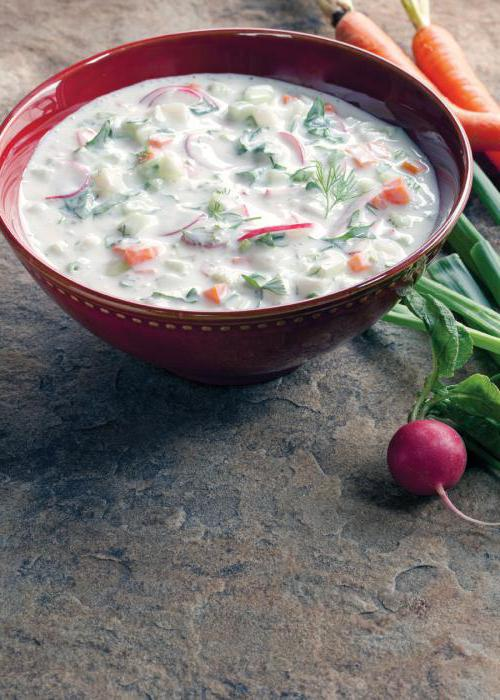 vegetarian okroshka step-by-step recipe
