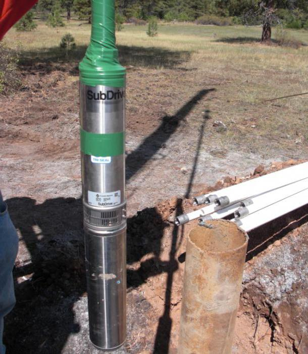 installation of a submersible pump in the well