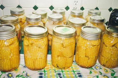 консервирование кукурузы в початках