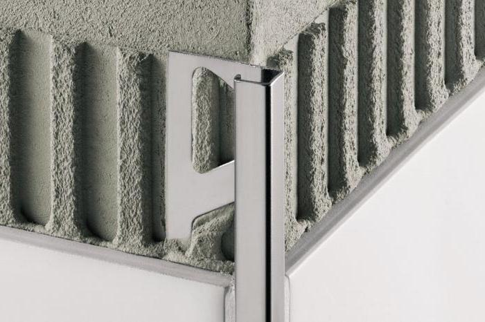 corner for outdoor tile aluminum
