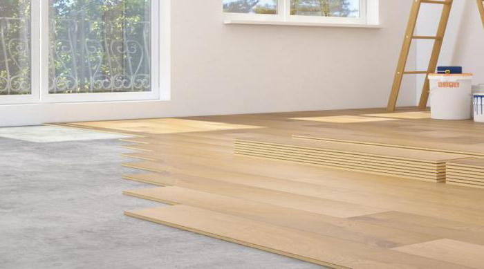 the choice of the substrate under the laminate on the concrete floor