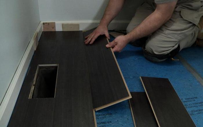 laminate substrate on concrete floor