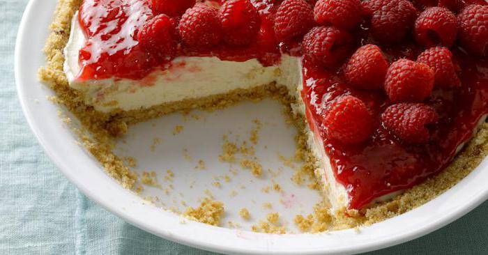 raspberry and curd tart