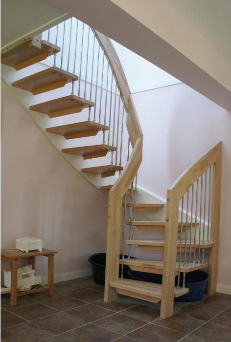 types of wooden stairs
