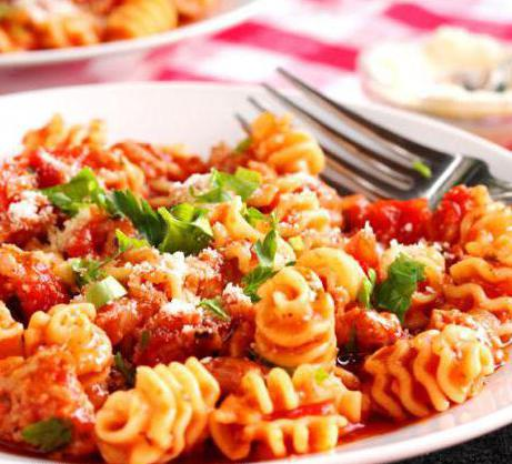 types of pasta with photo Italy