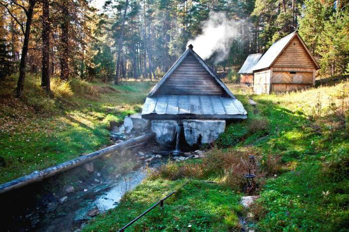 Baikal hot springs in Goryachinsk
